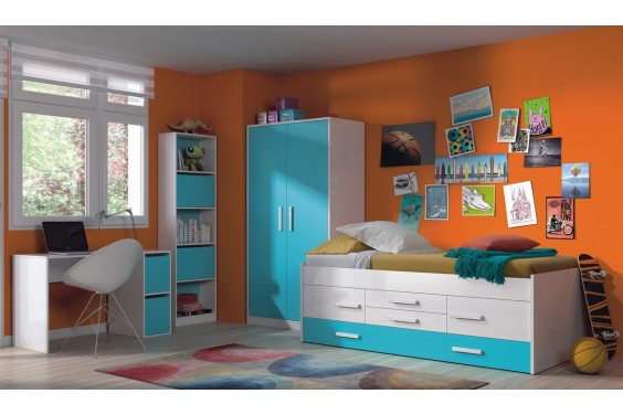Dormitorios juveniles baratos puff baratos dormitorios for Cama doble juvenil