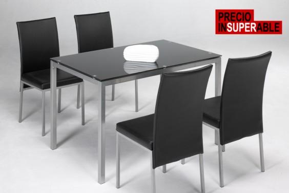 Mesa y 4 sillas salón LUX