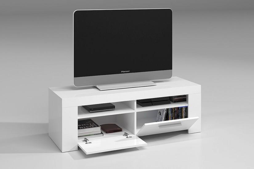 Mueble sal n tv ambit color blanco al mejor precio for Mueble salon 180 cm