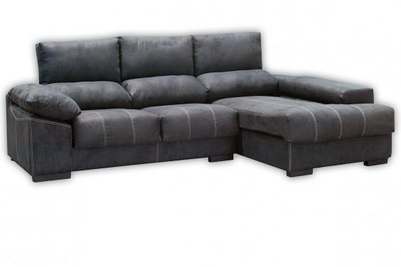 Sofá Chaiselongue Derecha HONDA Negro Azulado