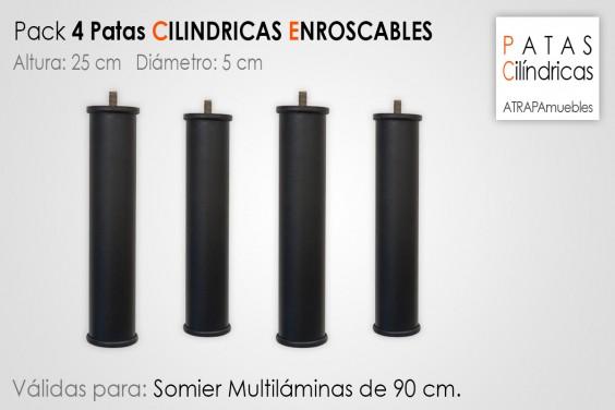 Pack 4 Patas Cilindricas 25 cm
