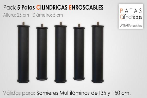 Pack 5 Patas Cilindricas 25 cm