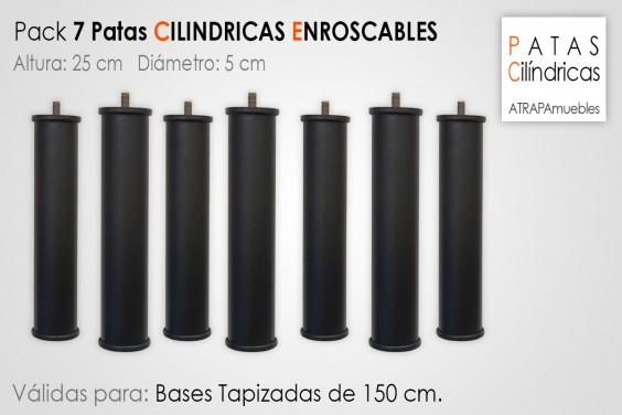 Pack 7 Patas Cilindricas 25 cm