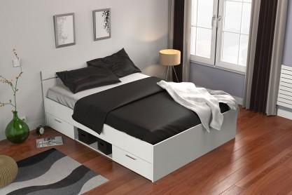 Dormitorios de matrimonio baratos dormitorios de for Estructura cama cajones