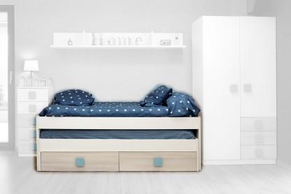 Dormitorios juveniles baratos puff baratos dormitorios - Cama nido doble ...
