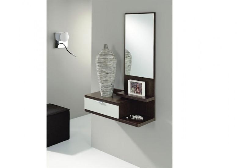 Mueble recibidor moderno dahlia al mejor precio for Mueble recibidor colgado