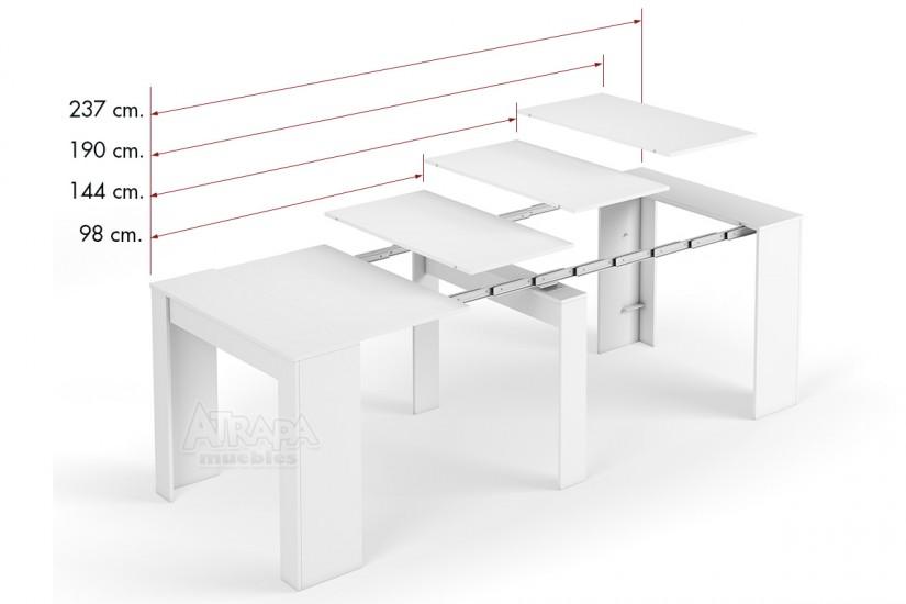 Mesa consola comedor extensible 4 en 1 de c nsola a mesa - Mesa auxiliar extensible ...