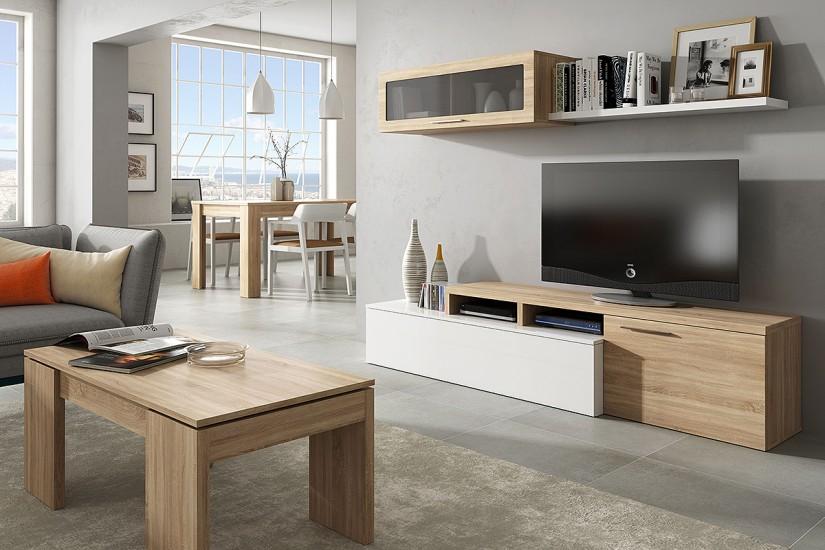 Mueble l gris 20170921235148 - Mueble moderno salon ...