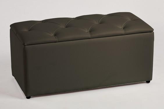 Pie de cama CAPITONE Rombos Negro
