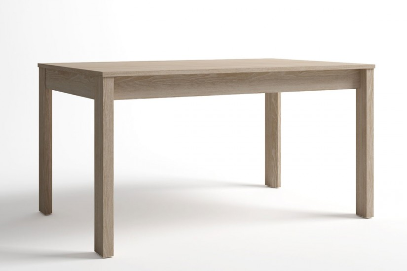 Mesa de comedor rectangular trend extensible en color for Mesa rectangular extensible