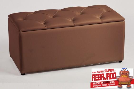 Pie de cama CAPITONE Rombos Chocolate