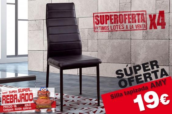 4 sillas salón AMY Negro 19€/u.