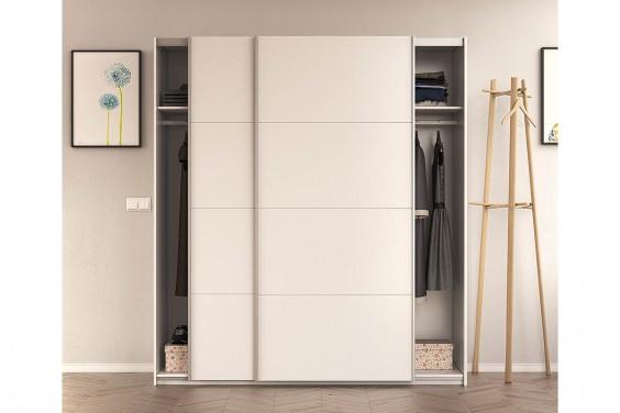Armario 2 puertas correderas blanco for Armario de dormitorio blanco barato