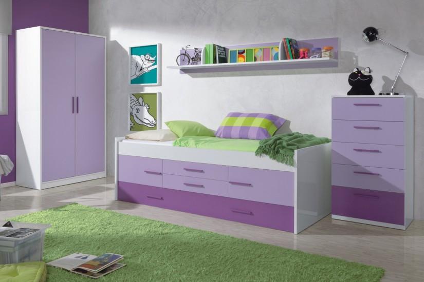 Cama doble iplay con somier 2 puertas y 2 cajones for Precios de dormitorios juveniles