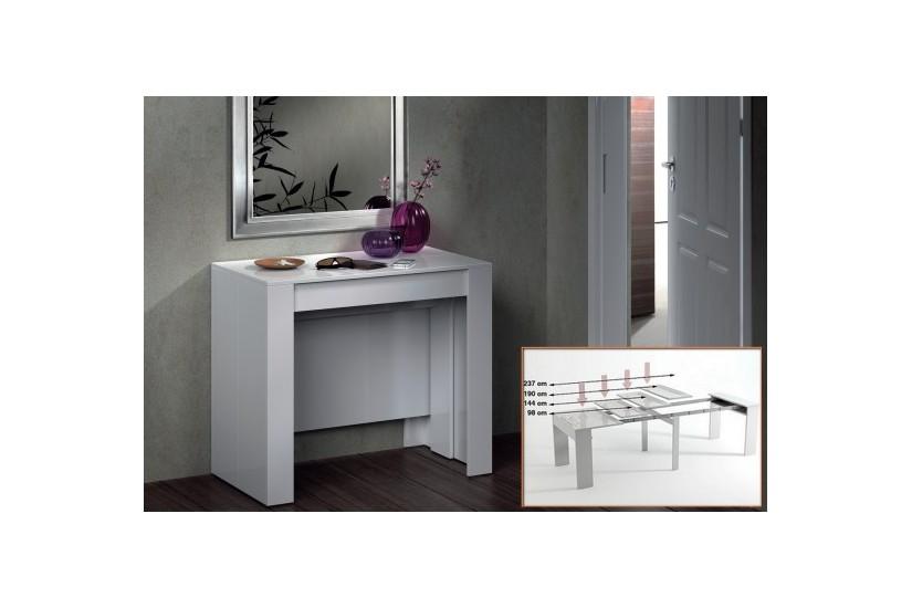 Mesa consola comedor extensible 4 en 1 de c nsola a mesa extensible de 236 cm en un solo mueble - Mesa consola ikea ...