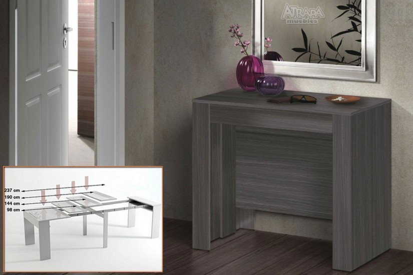 Mesa consola comedor extensible 4 en 1 de c nsola a mesa - Mesas comedor plegables tipo consola ...