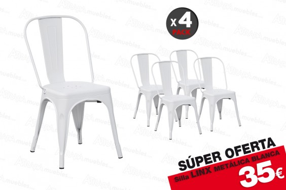 4 sillas LINX Blancas