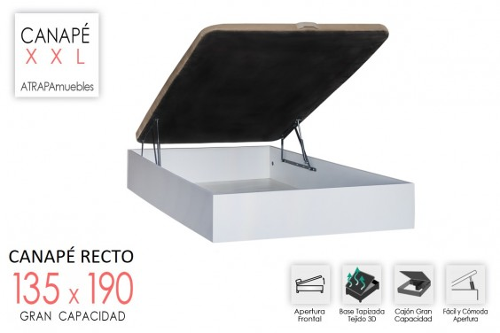 Canape 135x190 RECKTO Blanco
