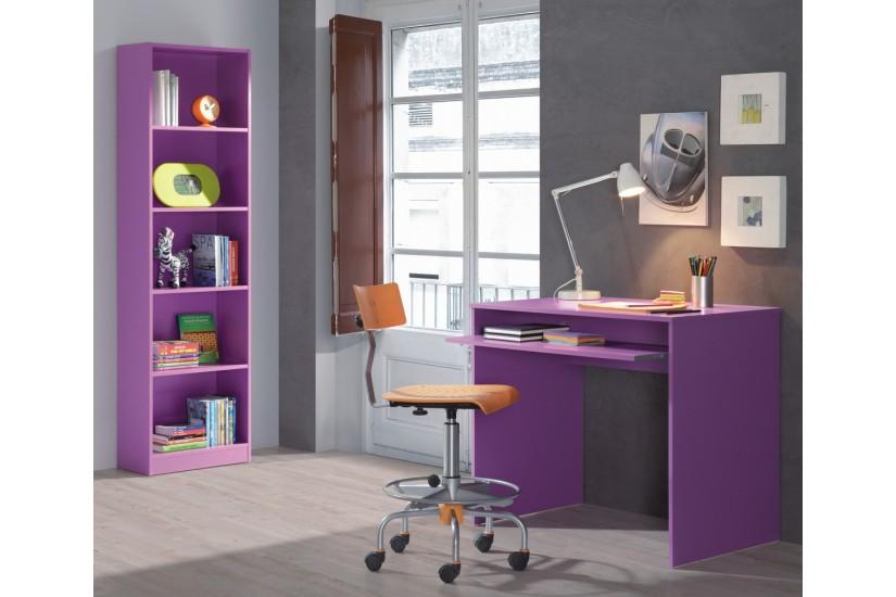 Mesa de ordenador con bandeja deslizable iplay lila al - Mesa estudio juvenil ...