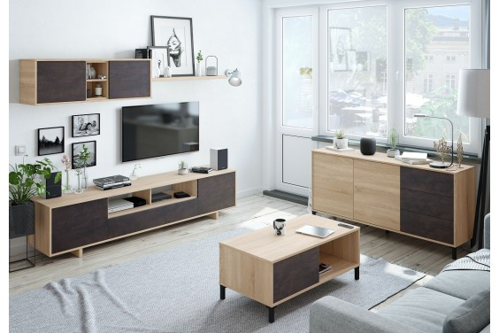 Mueble de salón BELUS Oxido/Roble Canadian