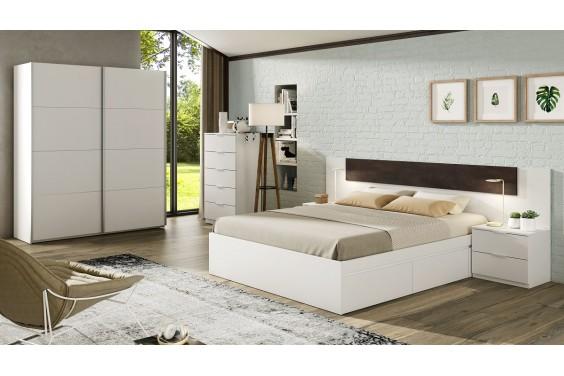 Dormitorio matrimonio ALAYA Blanco y Oxido