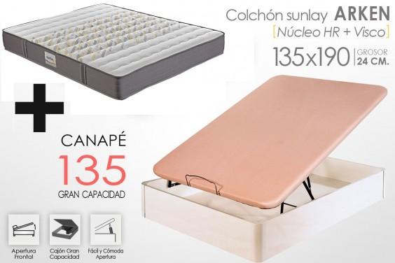 PACK Canapé + Colchón ARKEN VISCO 135