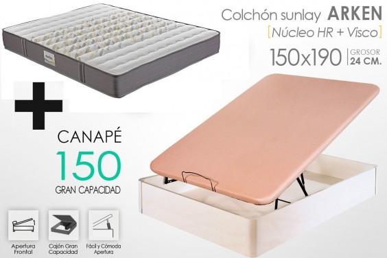 PACK Canapé + Colchón ARKEN VISCO 150