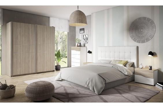 Dormitorio matrimonio CAPITONE Blanco / CANNES