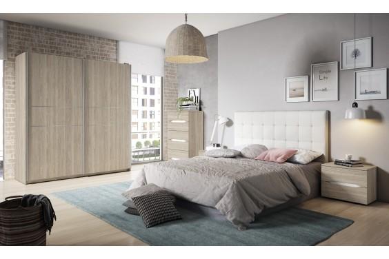 Dormitorio matrimonio CAPITONE Blanco / RUAN