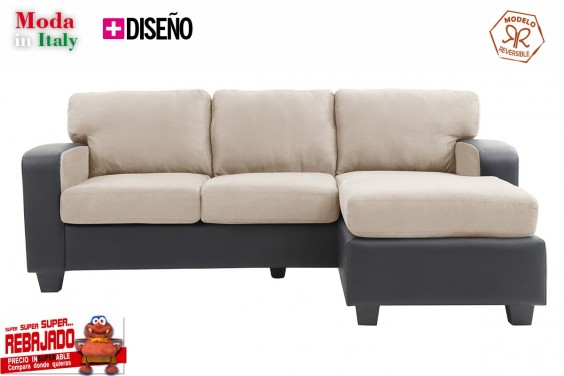 Chaiselongue OSLO Beige Claro Reversible