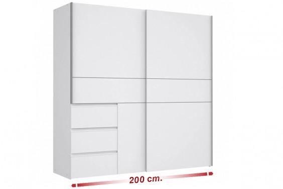 Armario correderas TOKIO 200x200 Blanco