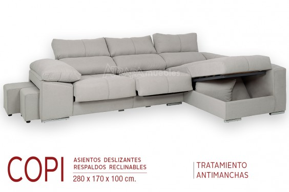 Chaiselongue Derecha COPI Gris