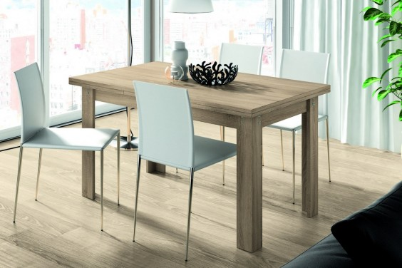 Mesa de comedor rectangular logan extensible en color - Mesas salon extensibles modernas ...