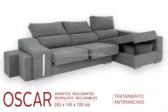 Chaiselongue Derecha OSCAR Gris