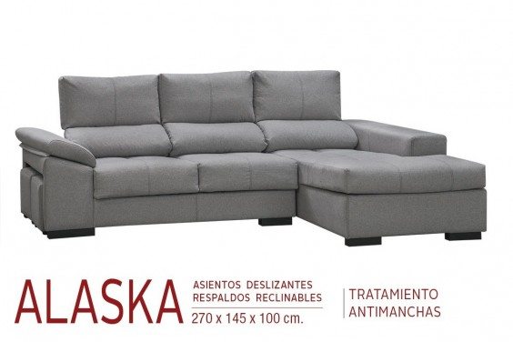 Chaiselongue Derecha ALASKA Gris