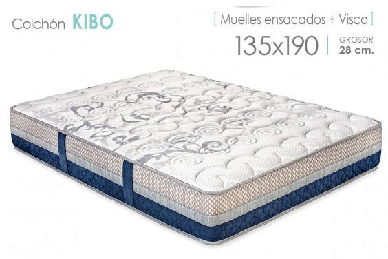 Colchón KIBO Muelles Ensacados y Visco 135x190