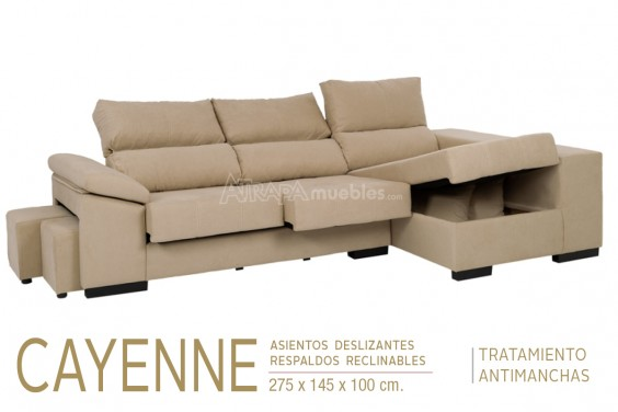 Chaiselongue Derecha CAYENNE Marrón