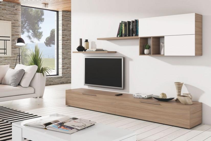 mueble de saln antara al mejor precio mueble bajo blanco salon