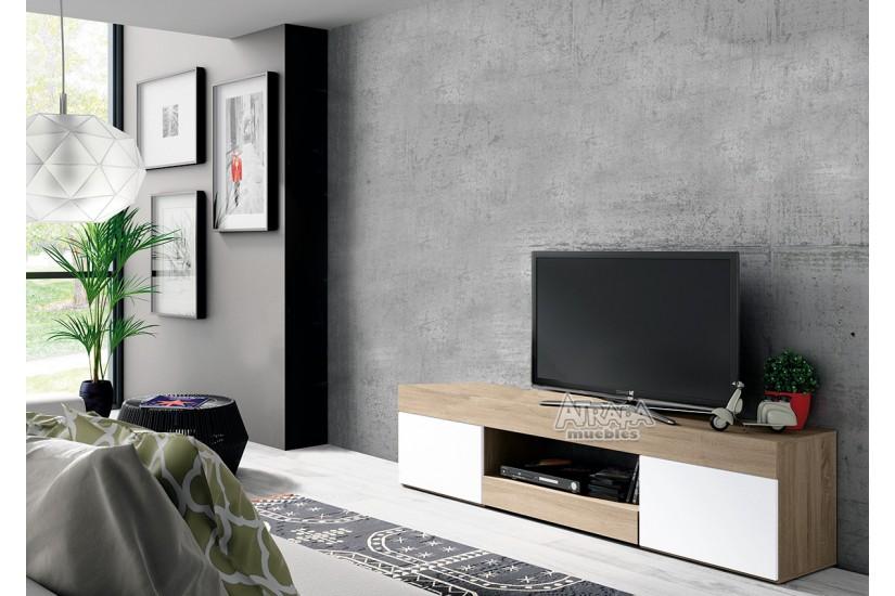 Mueble bajo tv logan al mejor precio for Muebles de tv modernos precios