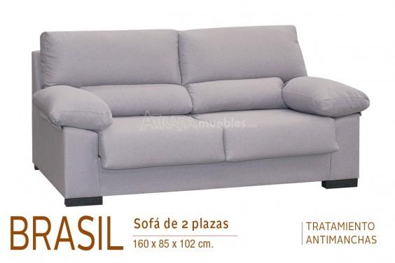 Sofá 2 Plazas BRASIL Gris