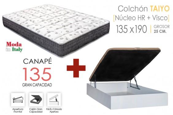 PACK Canapé RECKTO + Colchón TAIYO VISCO 135