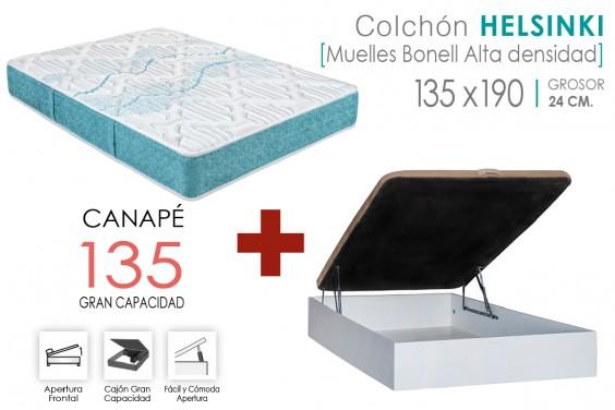 PACK Canapé RECKTO + Colchón HELSINKI 135x190