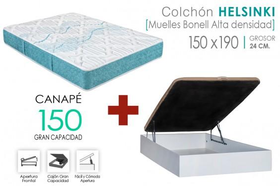 PACK Canapé RECKTO + Colchón HELSINKI 150x190