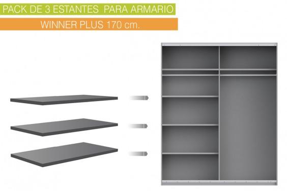 Lote 3 estantes 82x42 cm WINNER Plus