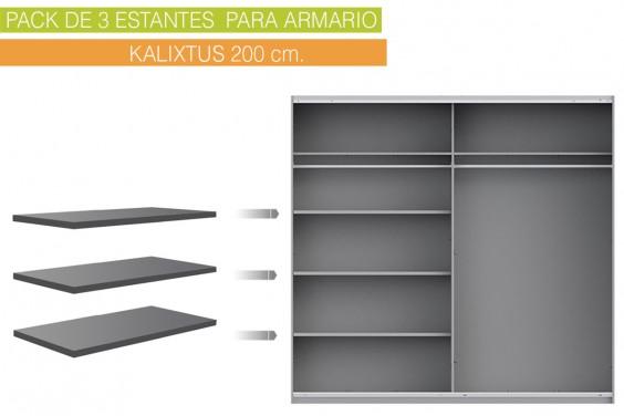 Lote 3 estantes 57x42 cm KALIXTUS