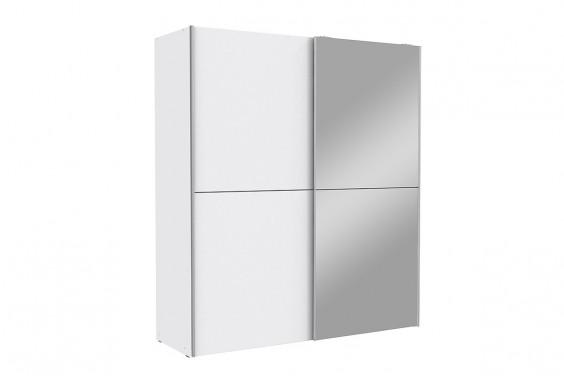 Armario correderas con espejo 170x190 Blanco WHITE KISS