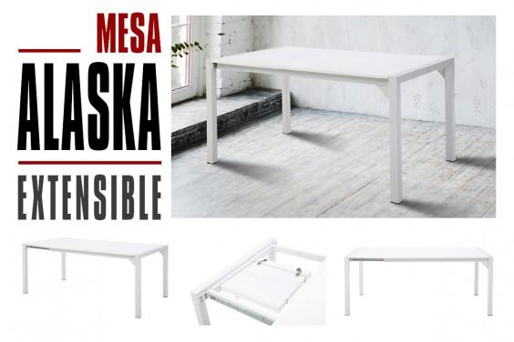 Mesa comedor extensible ALASKA Blanca