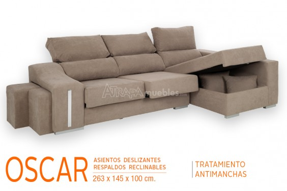 Chaiselongue Derecha OSCAR Marrón