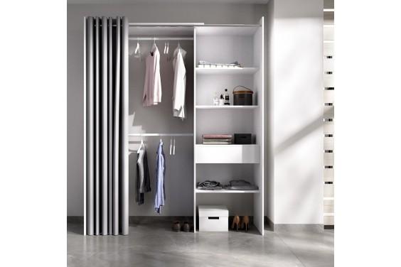 Armario vestidor REVERSIBLE + Cortina SUIT Blanco