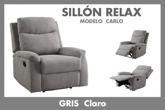Sillón Relax CARLO Gris Claro